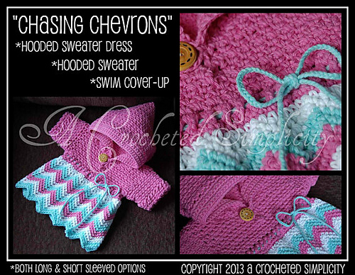 Chasing Chevrons Hooded Cover-Up by Jennifer Pionk