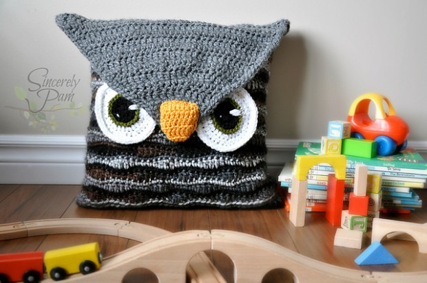Owl Be Your Buddy Pillow Cover by Sincerely Pam