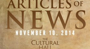 Articles of News/Week of November 10th