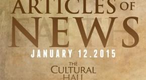 Articles of News/Week of Jan 12th
