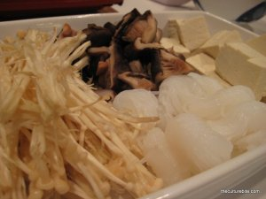 Hot Pot Mushrooms Tofu