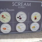 Scream Sorbet Menu