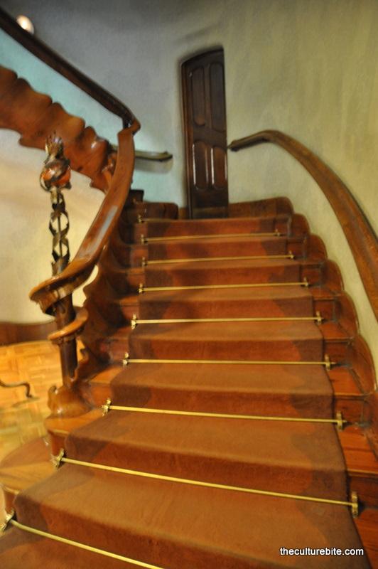 Barcelona Gaudi Casa Batllo Stairs