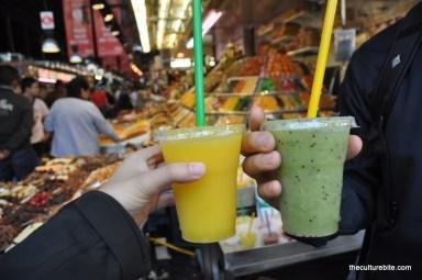 Barcelona La Boqueria Fruit Juice