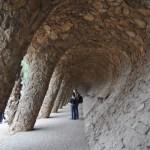Barcelona Park Guell Rock Wall