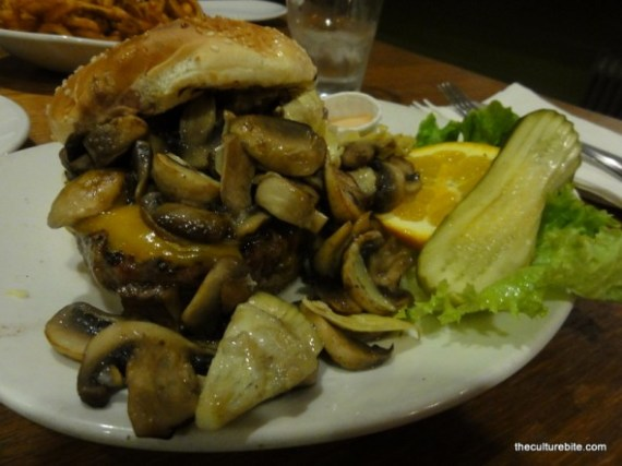 Barneys Mushroom Artichoke Burger