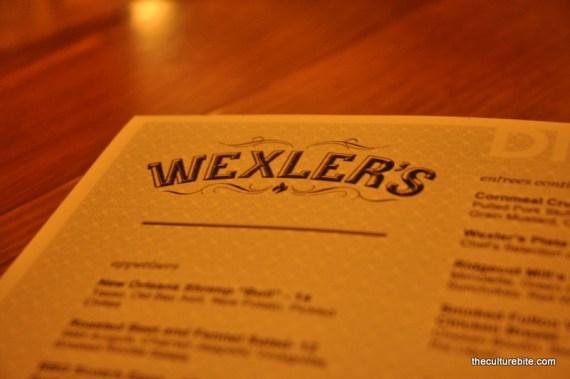 Wexlers Menu