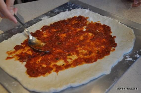 Sams Kitchen Pizza Add Sauce