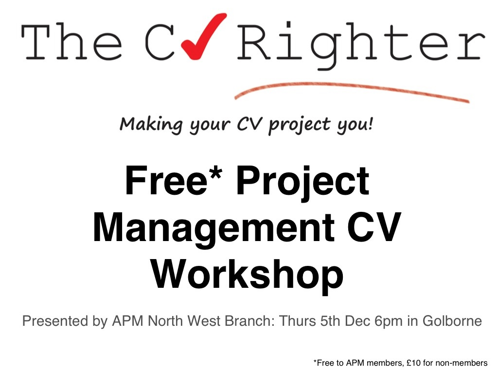 thecvrighter co uk project management cv workshop the past few years and it has become increasingly difficult to make it into shortlists for interviews employers expect to see a lot more in a cv than