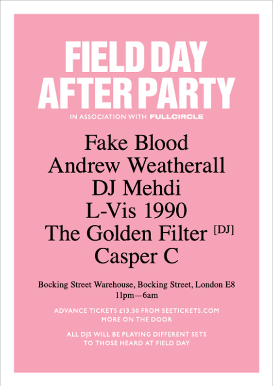 FIELD DAY 2010 afterparty invite