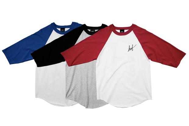 HUF-Classic-Script-Baseball-T-Shirts
