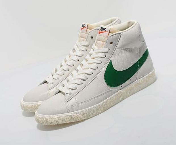 vente confortable Nike Blazer Haute Vert Blanc Cru jeu confortable eastbay Footaction rabais achats en ligne Irz1SWN