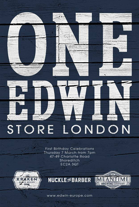 Edwin-Store-London-1st-Birthday-Poster-1