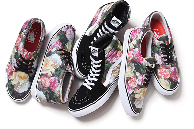 Supreme x Vans Rose Print Triple Pack 01
