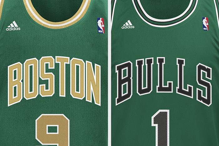 adidas NBA St Patricks Day Jerseys Bulls Celtics 01