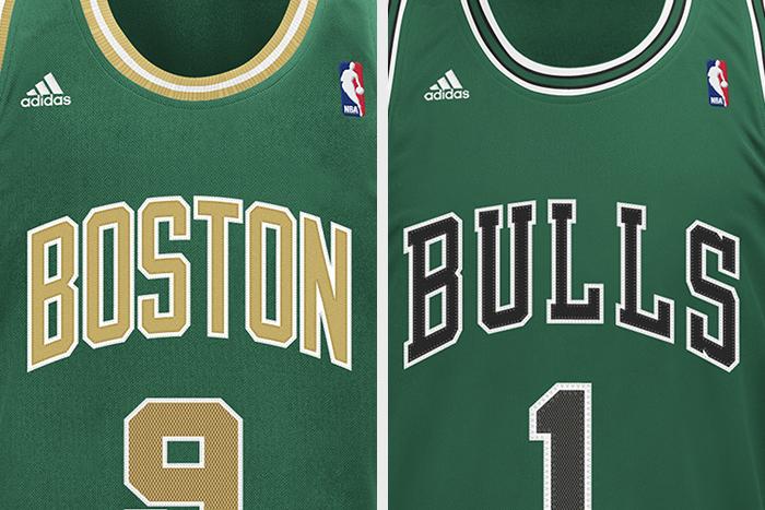 adidas NBA St Patricks Day Jerseys Bulls Celtics 01