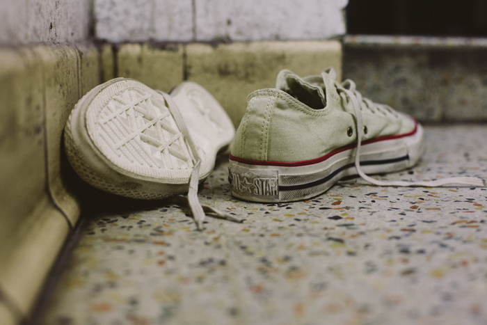 Converse Well Worn Collection white shot by The Daily Street 02