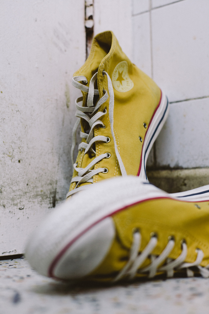 Converse Well Worn Collection yellow shot by The Daily Street 01