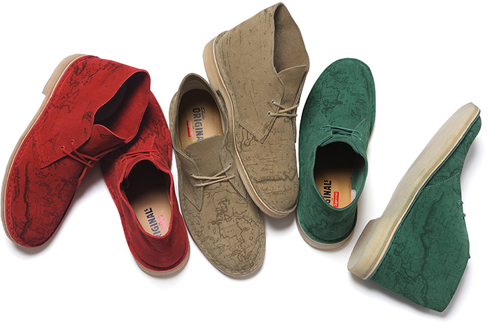 Supreme x Clarks Originals Map Suede Desert Boots 02