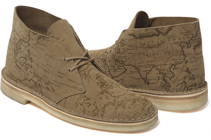 Supreme x Clarks Originals Map Suede Desert Boots 03