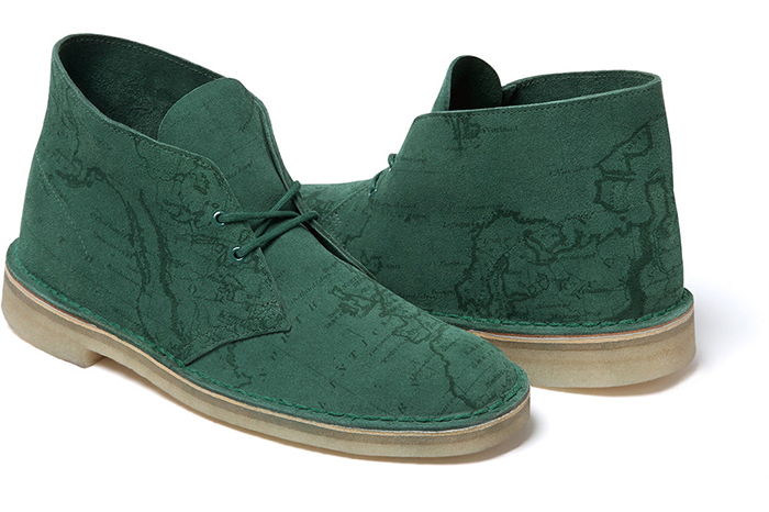 Supreme x Clarks Originals Map Suede Desert Boots 04