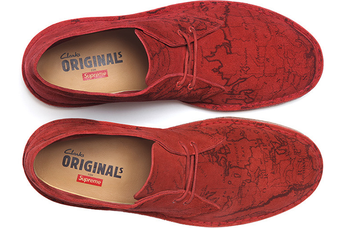 Supreme x Clarks Originals Map Suede Desert Boots 06