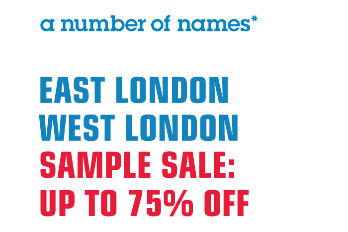 a number of names london sample sales 001
