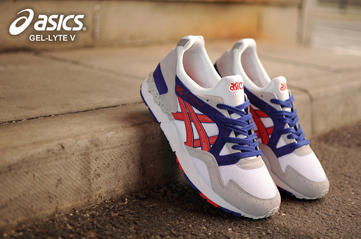 Asics Gel Lyte V OG White Fiery Red 001