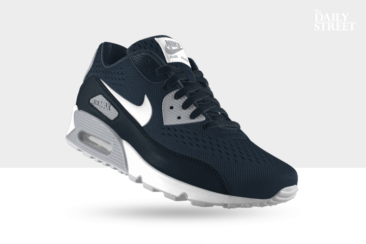 NIKEiD Air Max 90 Engineered Mesh Armory Navy Wolf Grey 002