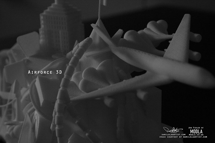 Nike Air Force 3D print scultpure Damilola Odusote Jon Fidler 005