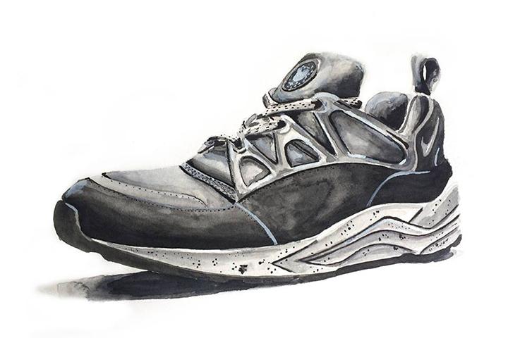 Footpatrol Nike Air Huarache Light Concret Achildcolor painting 01
