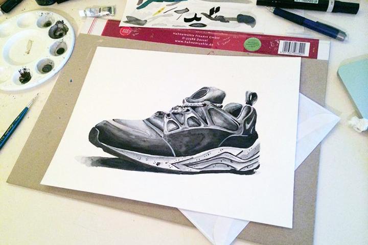 Footpatrol Nike Air Huarache Light Concret Achildcolor painting 02