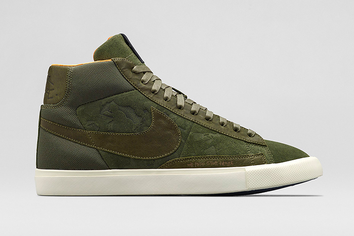 Nike Mo'Wax James Lavelle Blazer High Olive 01
