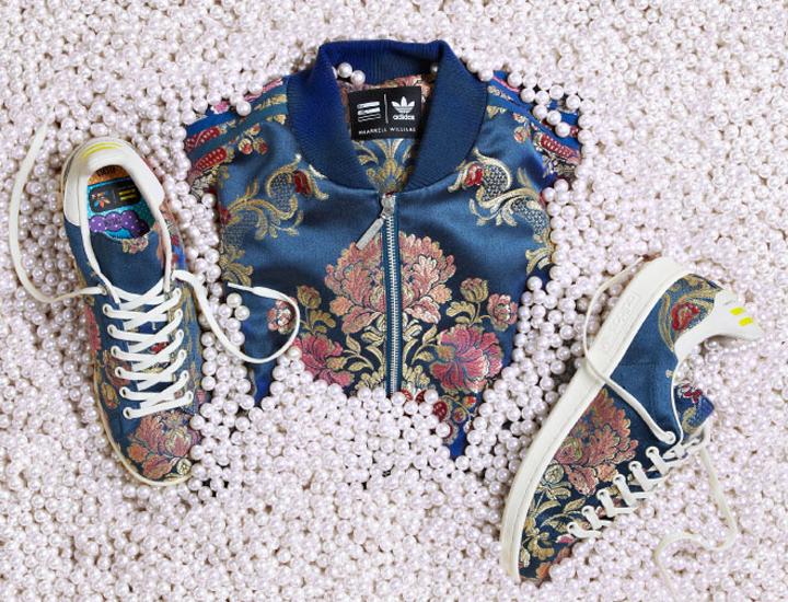 Pharrell Adidas Originals jacquard Stan Smith Blue