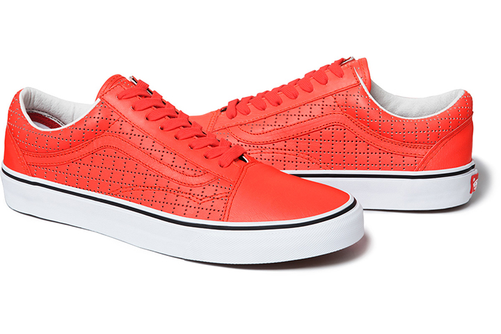 Supreme Vans Old Skool Perforated Leather pack 07