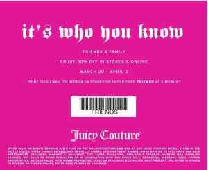 COUPON: Juicy Couture
