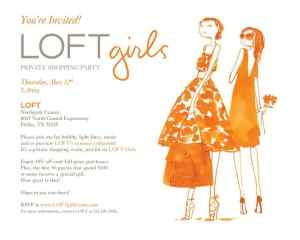 Loft Girls Private Shopping Party