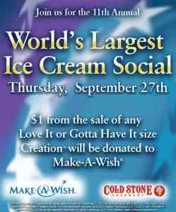 11th Annual World's Largest Ice Cream Social with Cold Stone Creamery