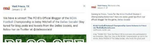 NCAA Football National Championship Blogger