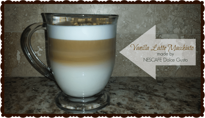 Vanilla Latte made in less than one minute with the NESCAFE Dolce Gusto Coffee Machine