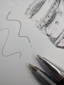 Ballpoint pen 0.5 and 0.7mm
