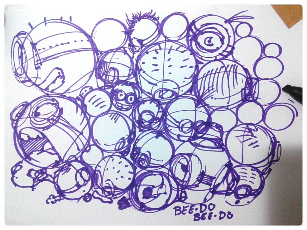 Minions-despicableme-sketch-theDesignsketchbook.jpg
