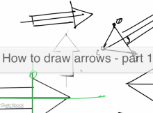 Design sketching arrows