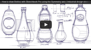 How to draw bottles Video feature