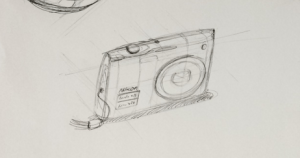 Camera product design life drawing  Low construction