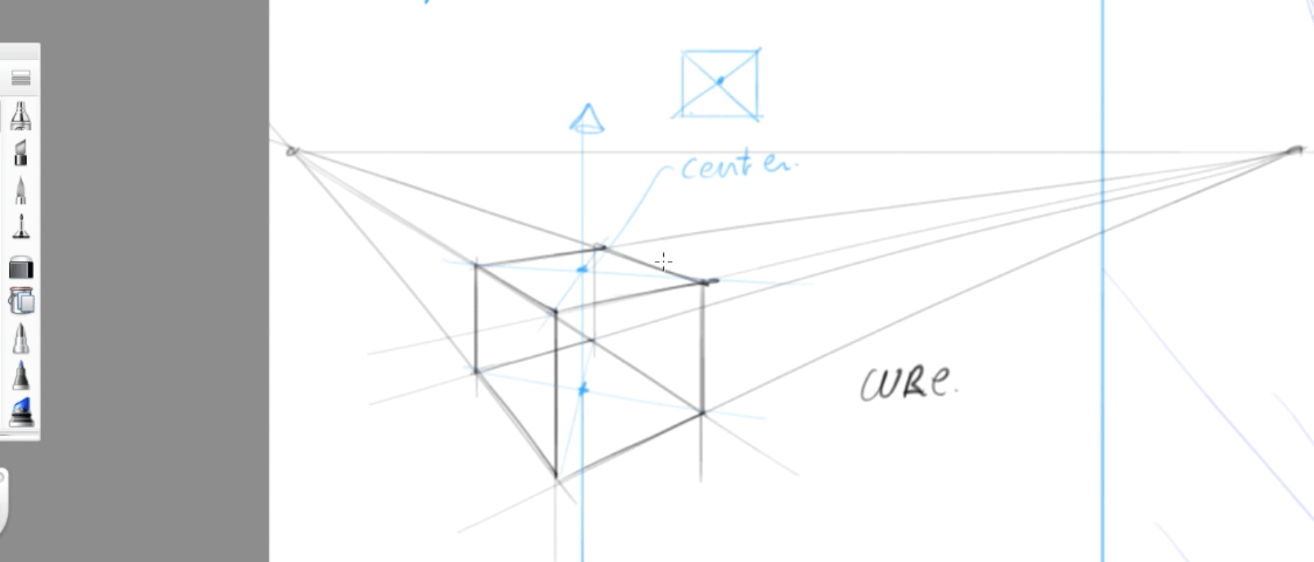 How to draw basic 3d volumes - cone - cube - cylinder - the design sketchbook - r