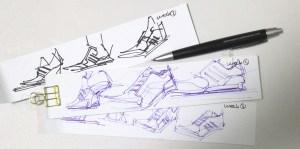 Adidas sneaker ball point pen design sketching the design sketchbook Chou-Tac Chung