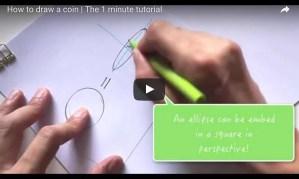 How to draw a coin The 1 miute tutorial-Industrial Design sketching-Blog k Youtube