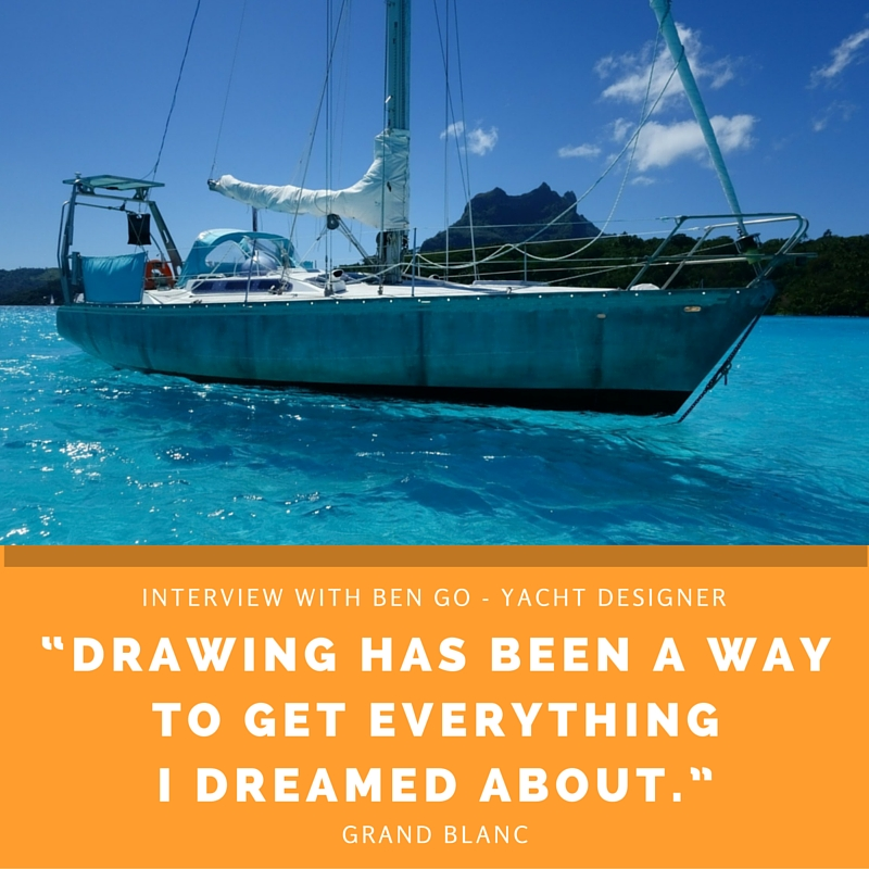 "Drawing has been a way to get everything I dreamed about."" - Interview with Ben Go, a Yacht designer. The design sketchbook - Product and Industrial Design sketching tutorials"
