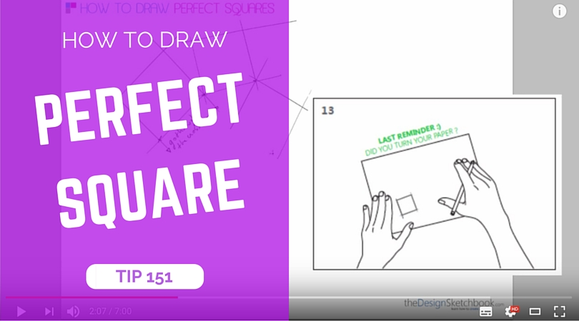 TIP 151 How to draw a perfect square - the design sketchbook - product and industrial design sketching